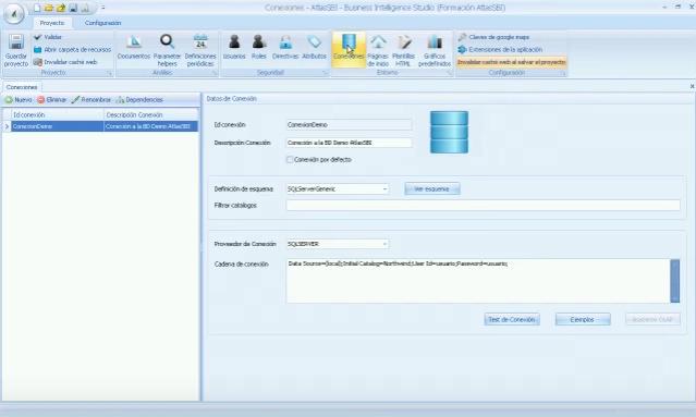 Atlas SBI - Creación usuarios y conexiones