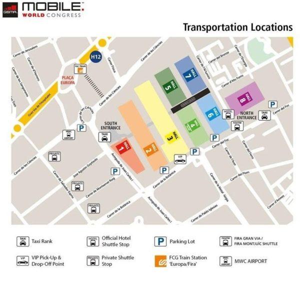 Mapa MWC2018 - 3