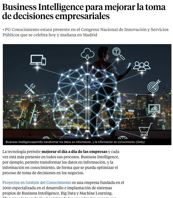 PG Conocimiento vuelve a ser noticia en La Vanguardia